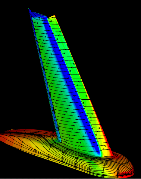 Image of a trap wing CFD solution